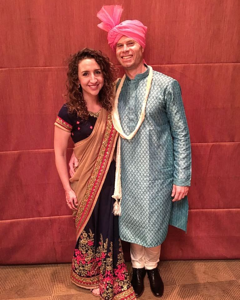 Suited and sari-d for the wedding day.