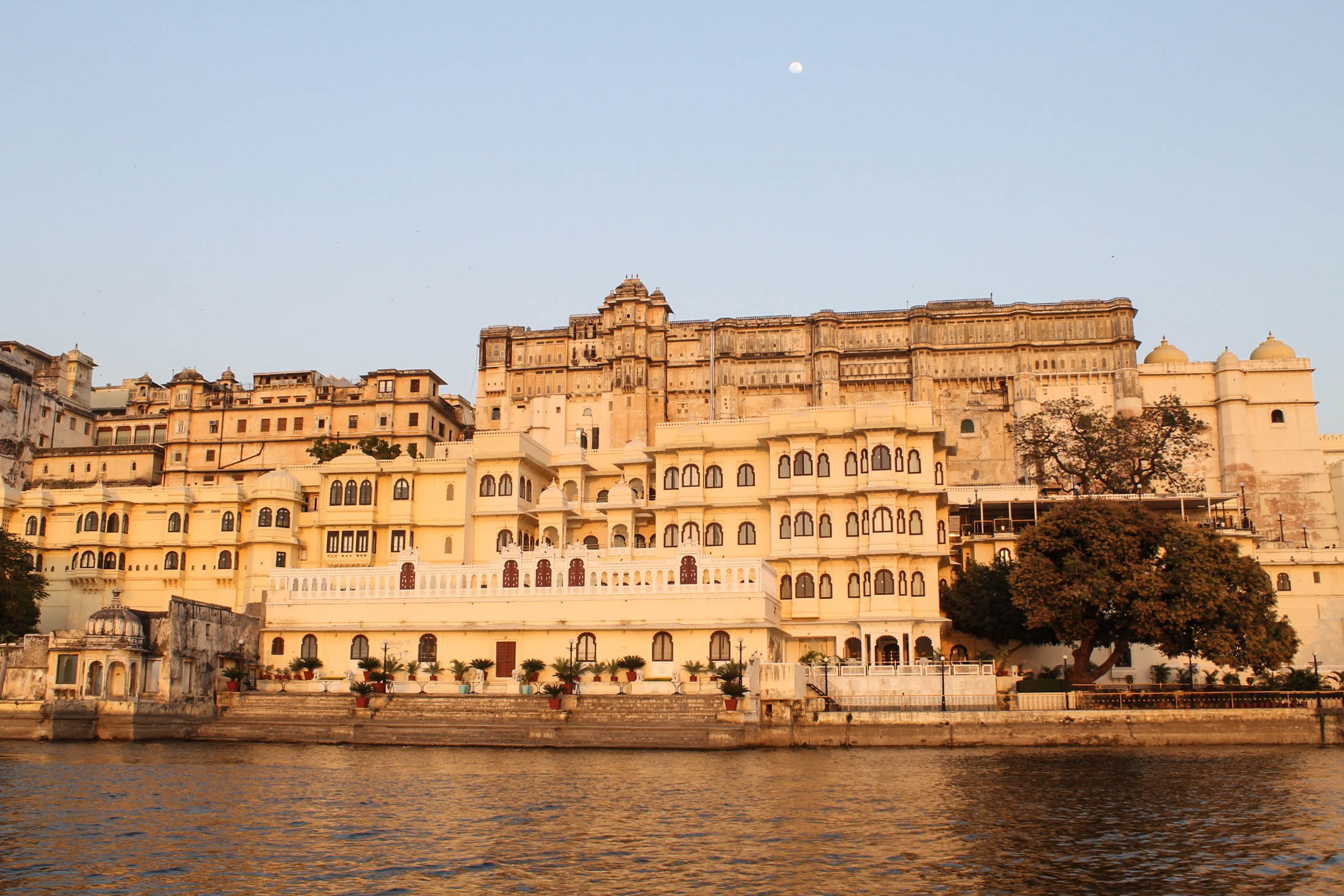"View from the boat cruise on Lake Pichola. Udaipur is known as the ""Venice of the East""."