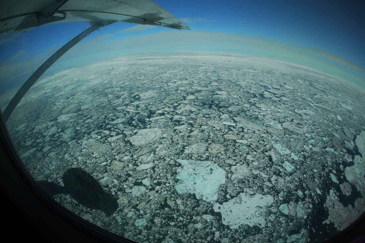 Sea ice over the Chukchi Sea.