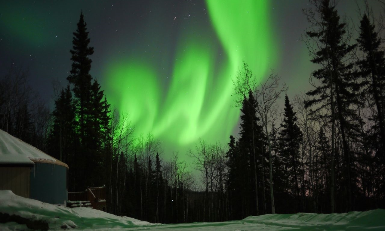 Aurora Borealis in Fairbanks, Alaska.