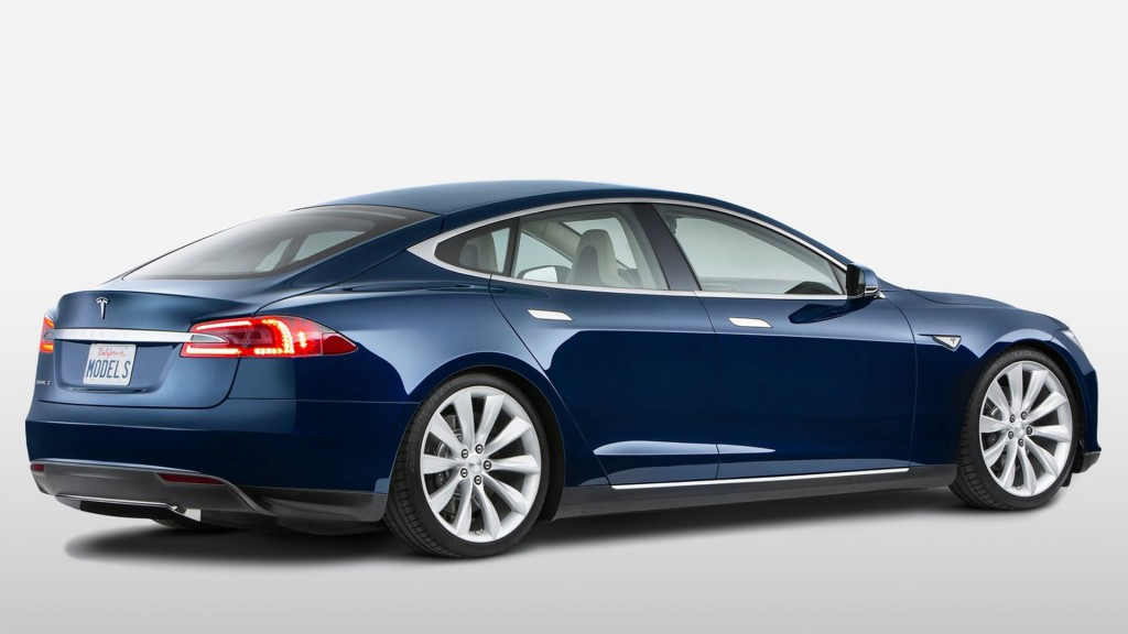 Dark Blue Tesla Model S