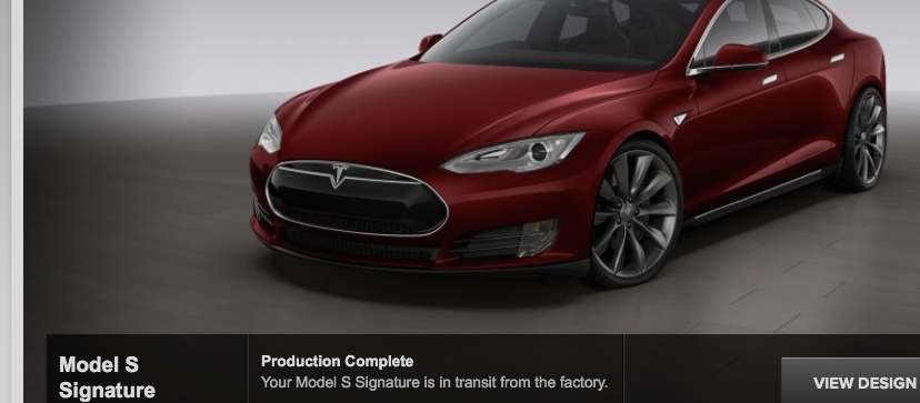 Burgundy Tesla Model S