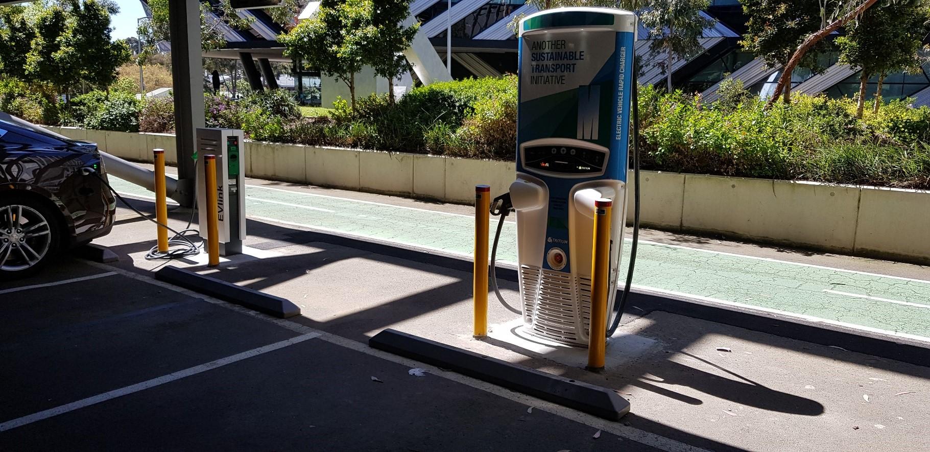 Public Charging station at Monash University (JET Charge installed)