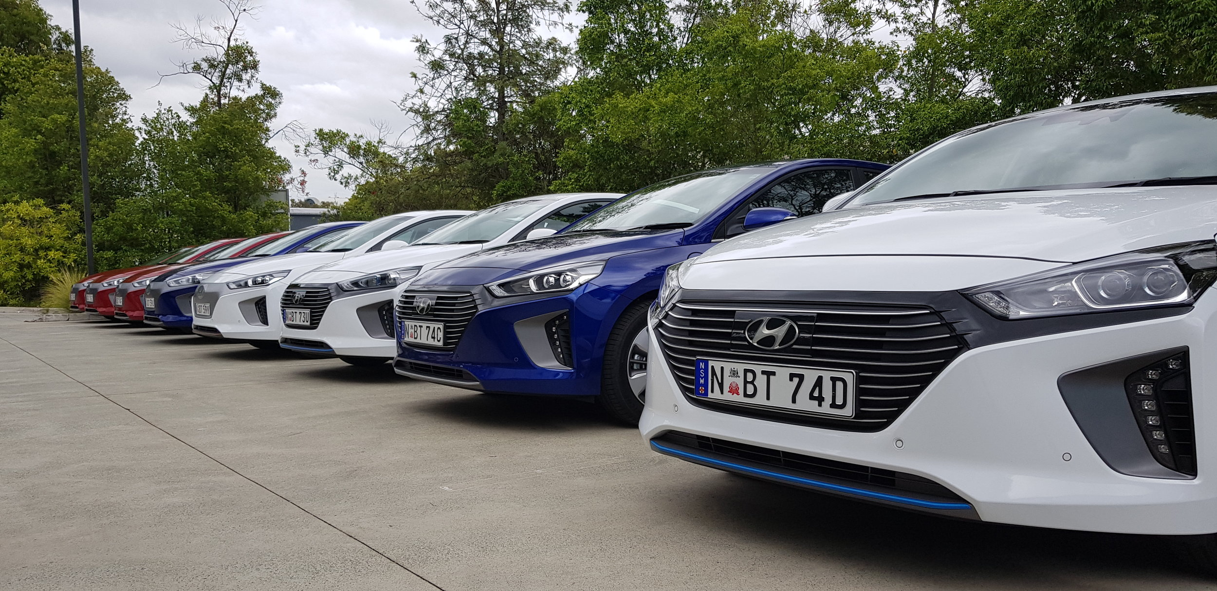 At the launch of the Hyundai Ioniq in QLD