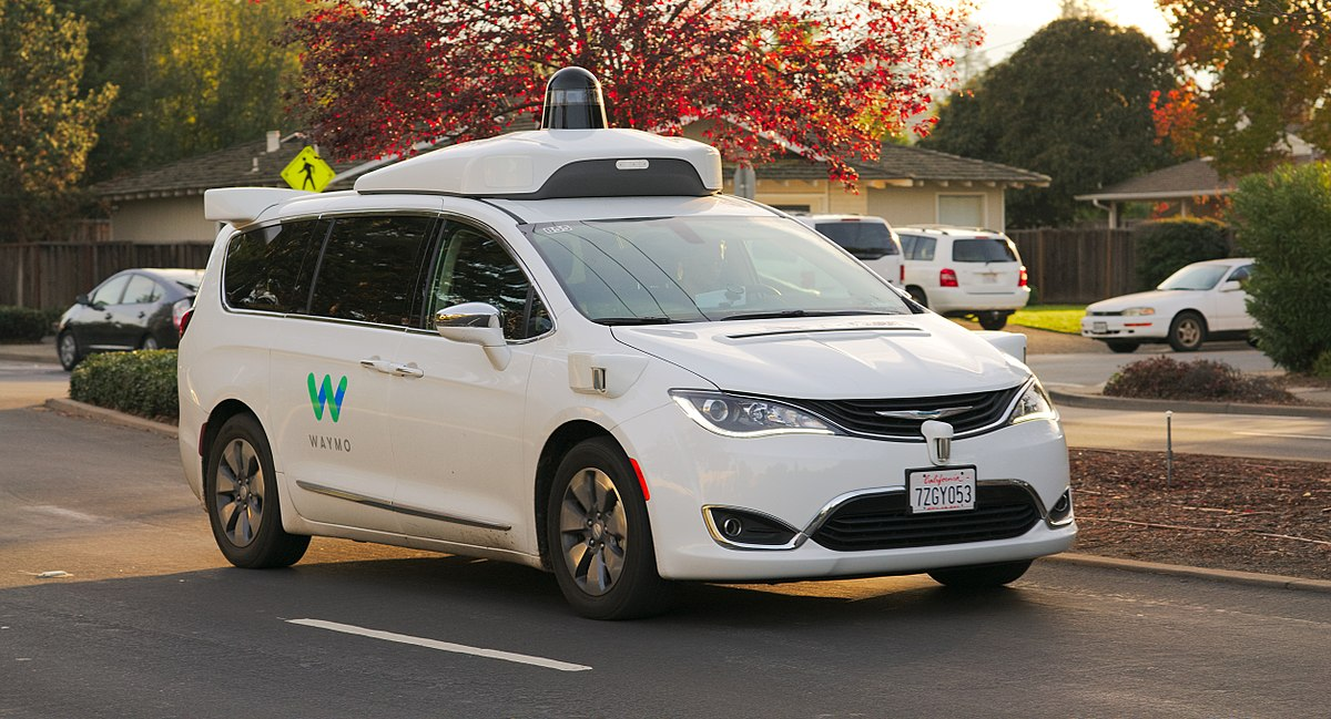 A Waymo prototype with top-mounted LIDAR — image by    Dllu   , reproduced under    CC BY-SA 4.0