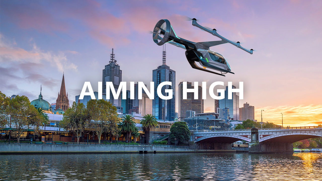 uber air over melbourne
