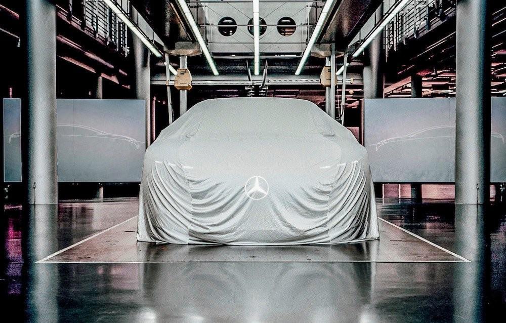 Mercedes EQ under sheet