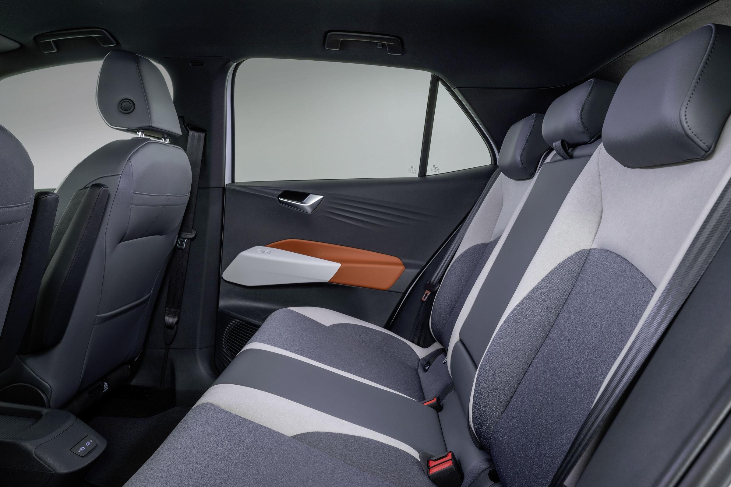 Roomy rear seating at a sleep-ready angle