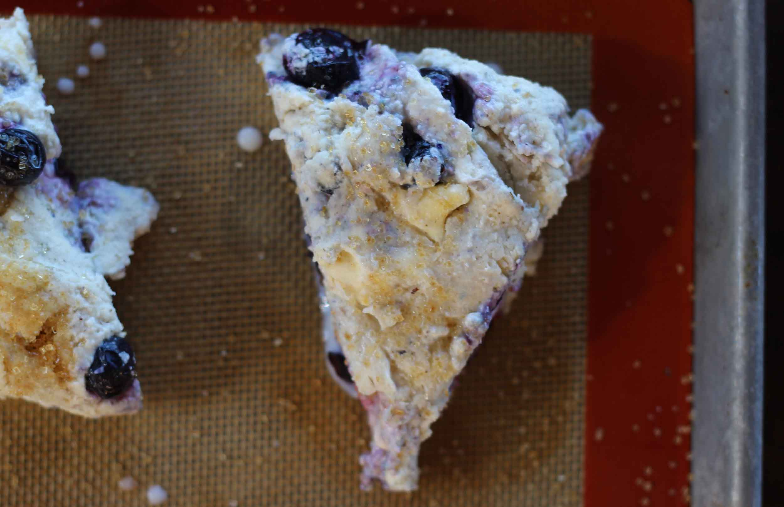 Chunks of butter make a flakey scone.