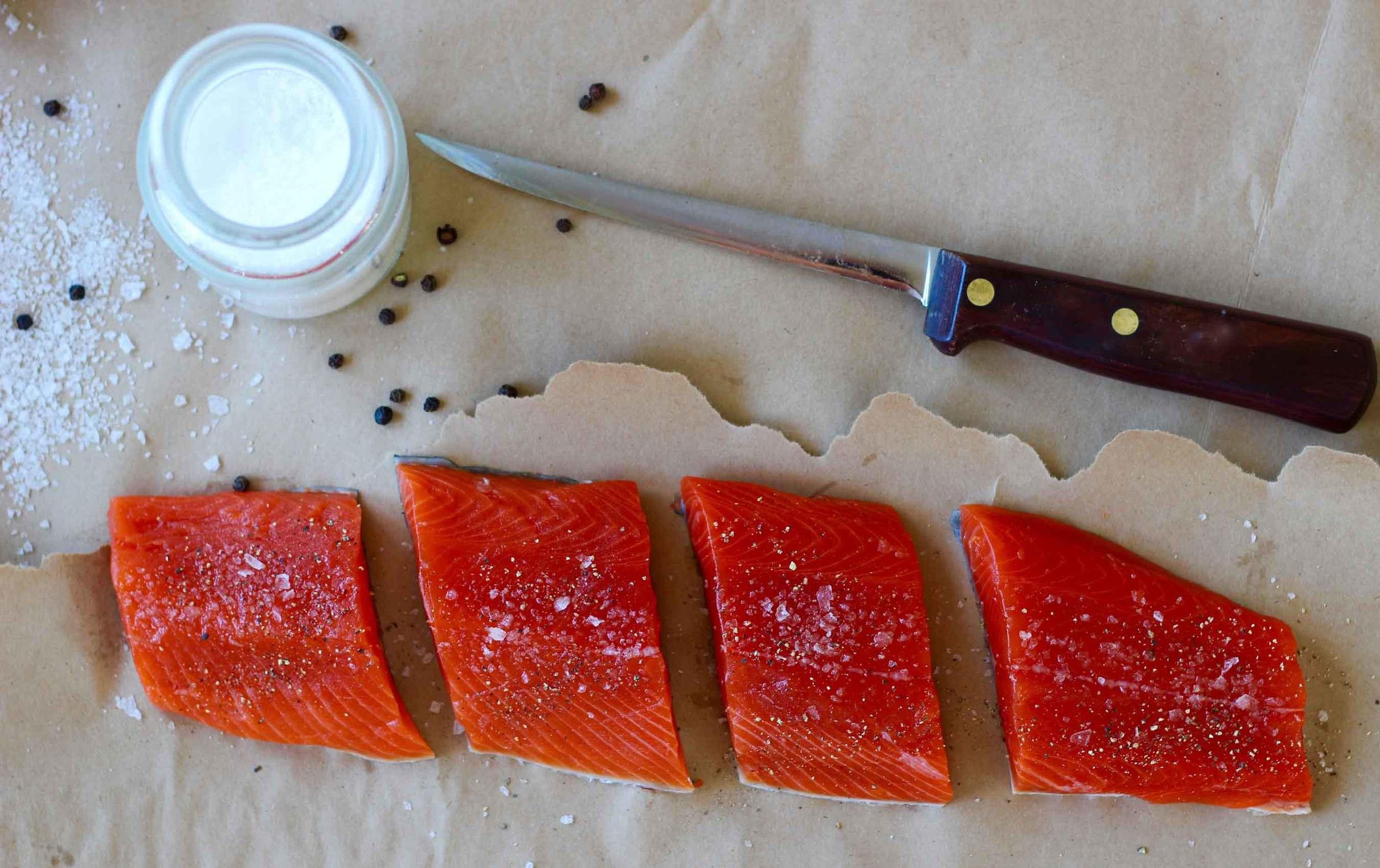 filleted sockeye salmon, Thread & Whisk