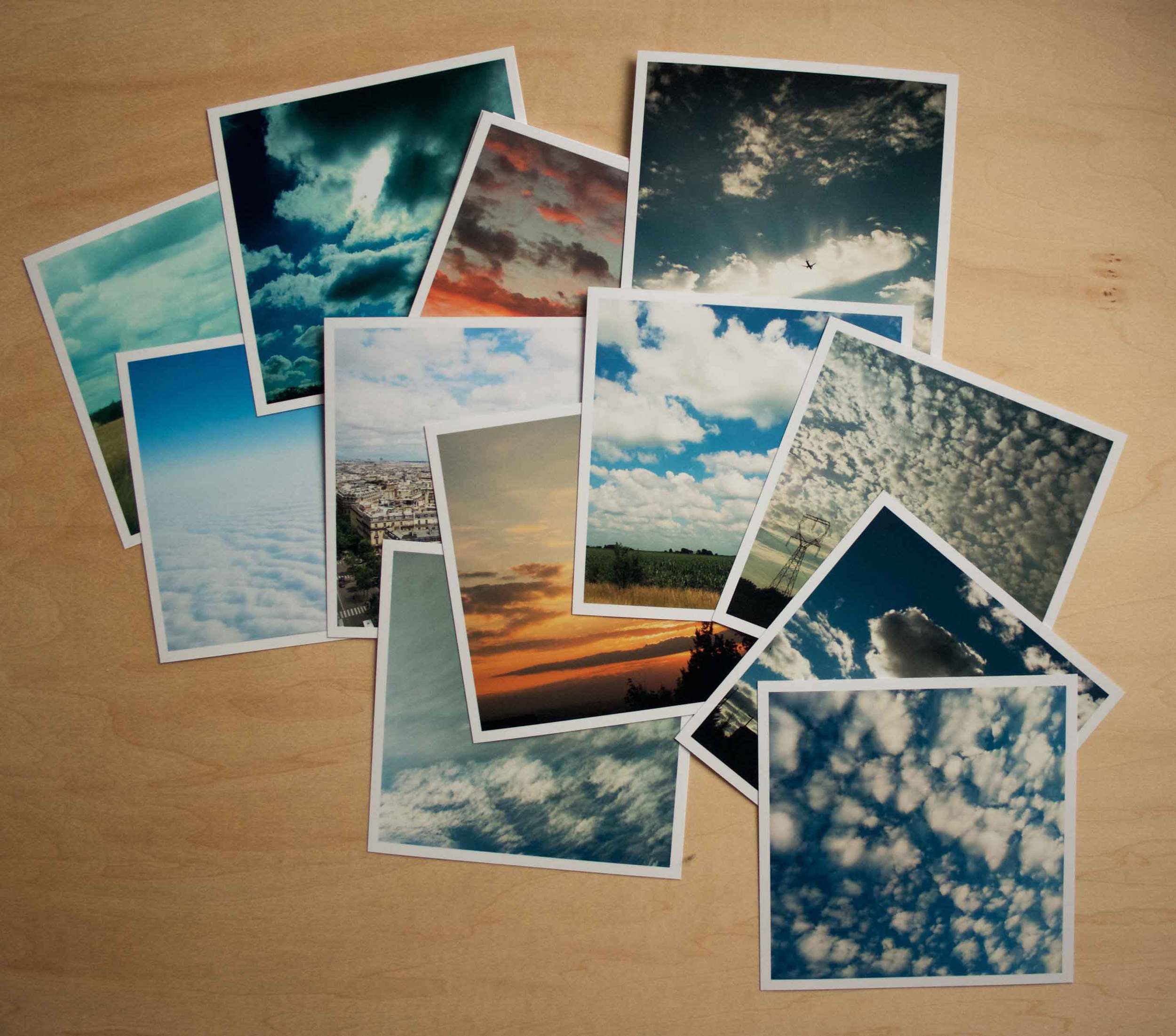 Cloud collecting, cloud photos, handmade accordion book project, Thread & Whisk