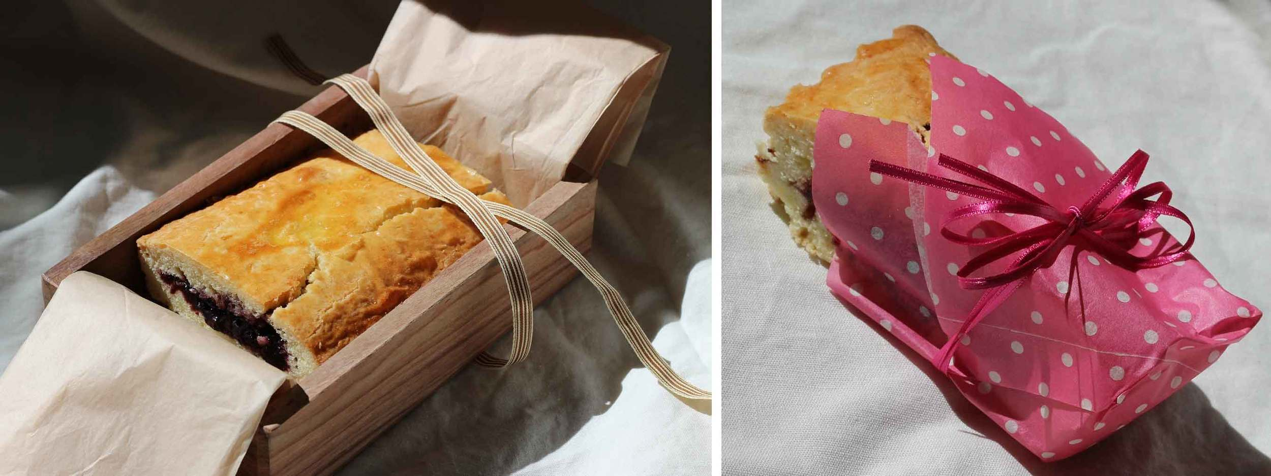 gâteau basque as gifts and snacks, recipe by Thread & Whisk