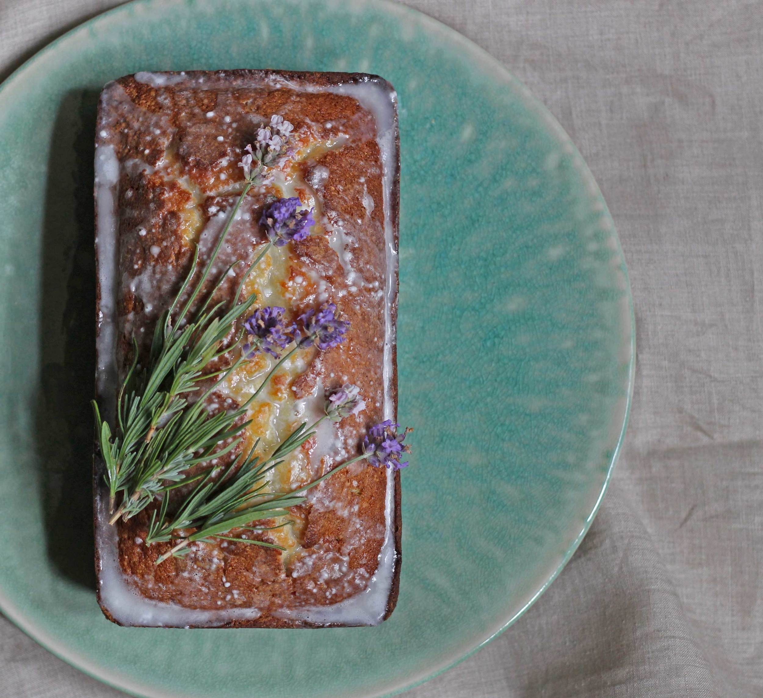 Lavender Pound Cake with a Glaze, perfect summer dessert, recipe by Thread & Whisk