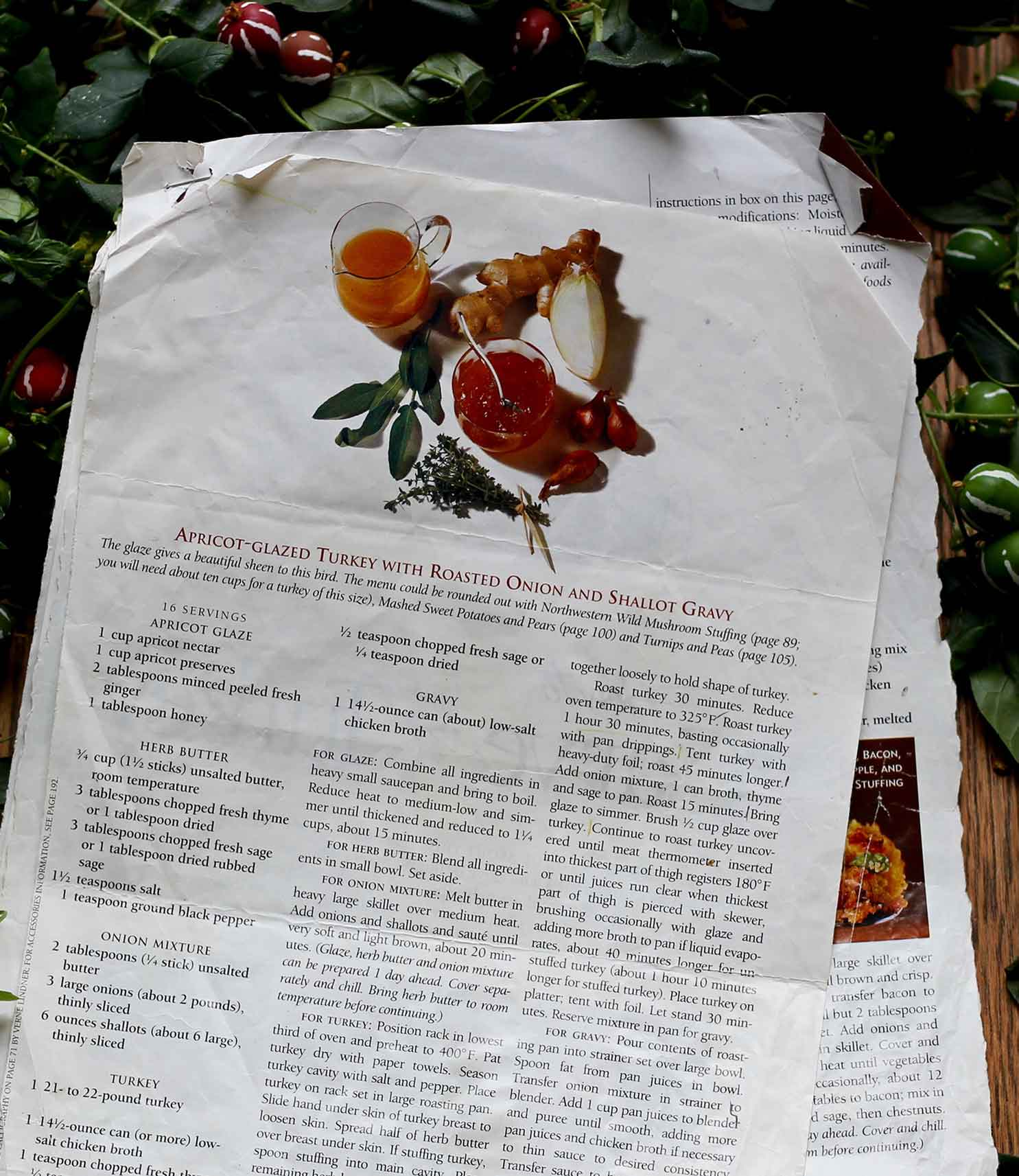 Our beloved Bon Appetit turkey recipe from the 90's