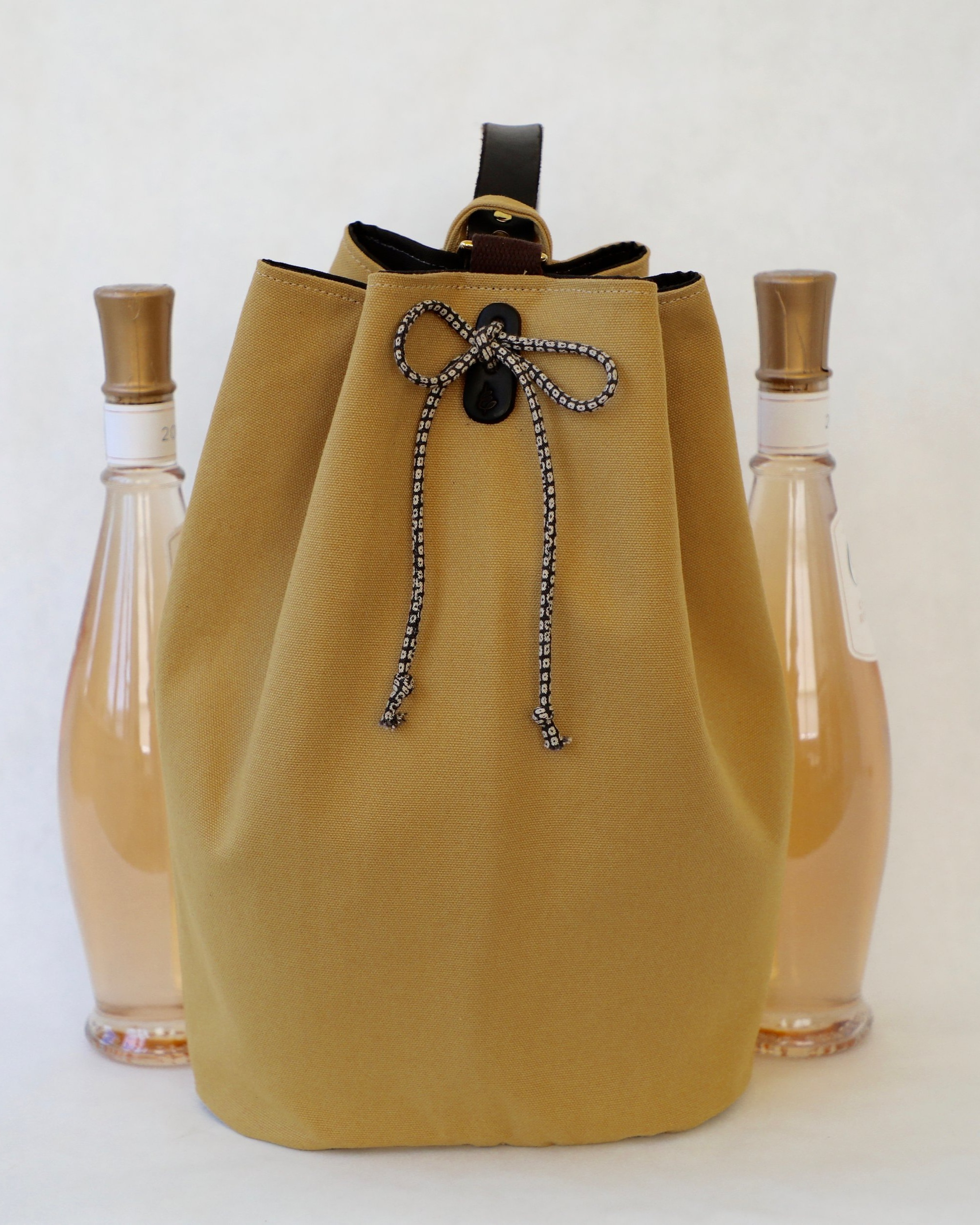 Larkspur 2-Bottle Wine Tote $128