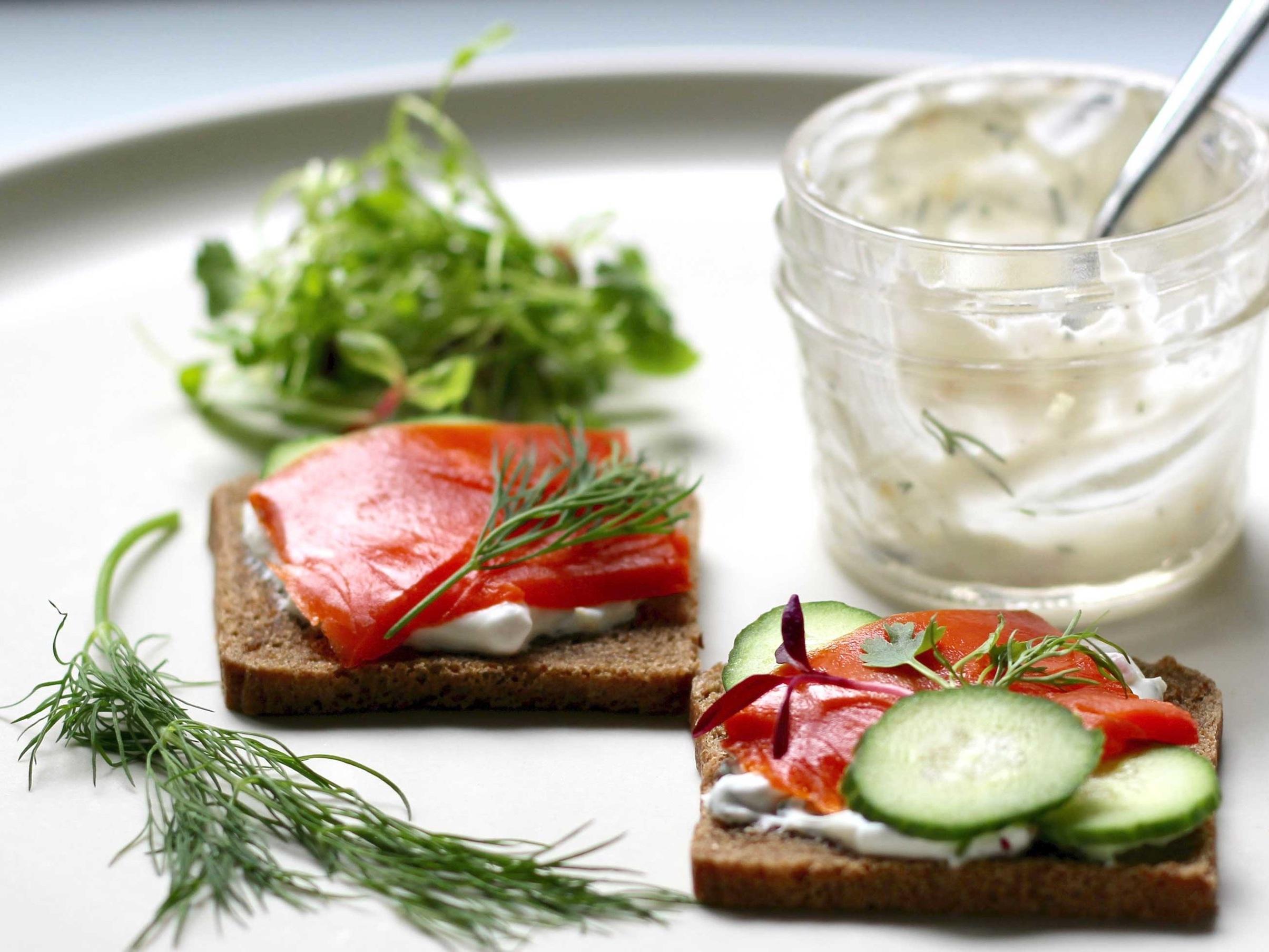 Smoked Salmon Tartines -