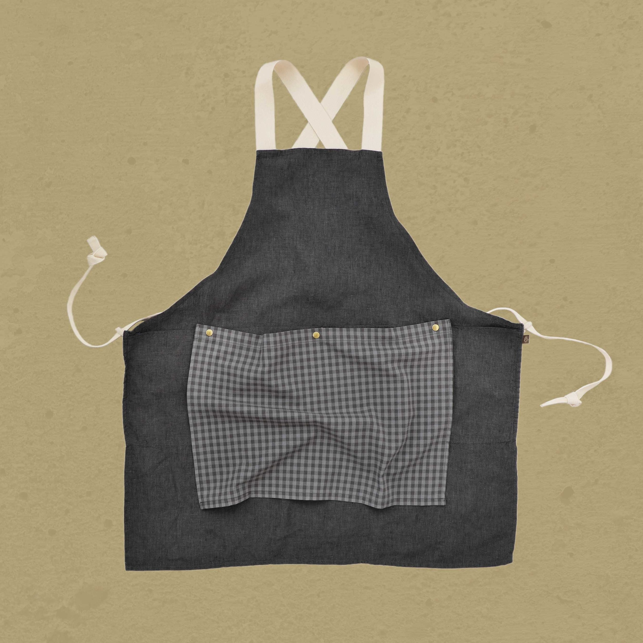 Charcoal with Grey Gingham