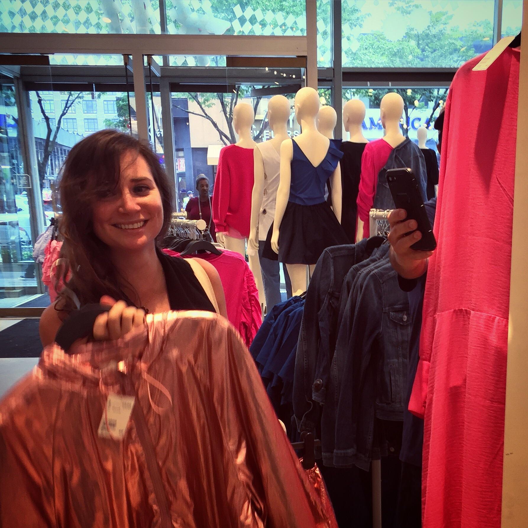Randy and Andrea take a self-snap at H&M