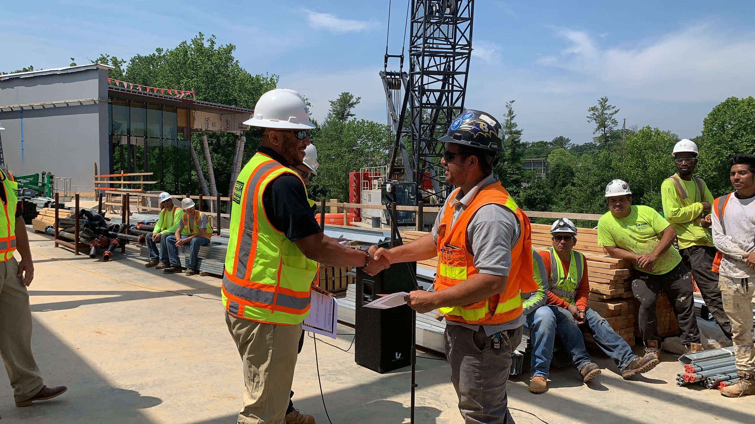 We honored our Subcontractors who have shown excellence on this project. - We also celebrated working over 75,610 hours with no safety incidents.