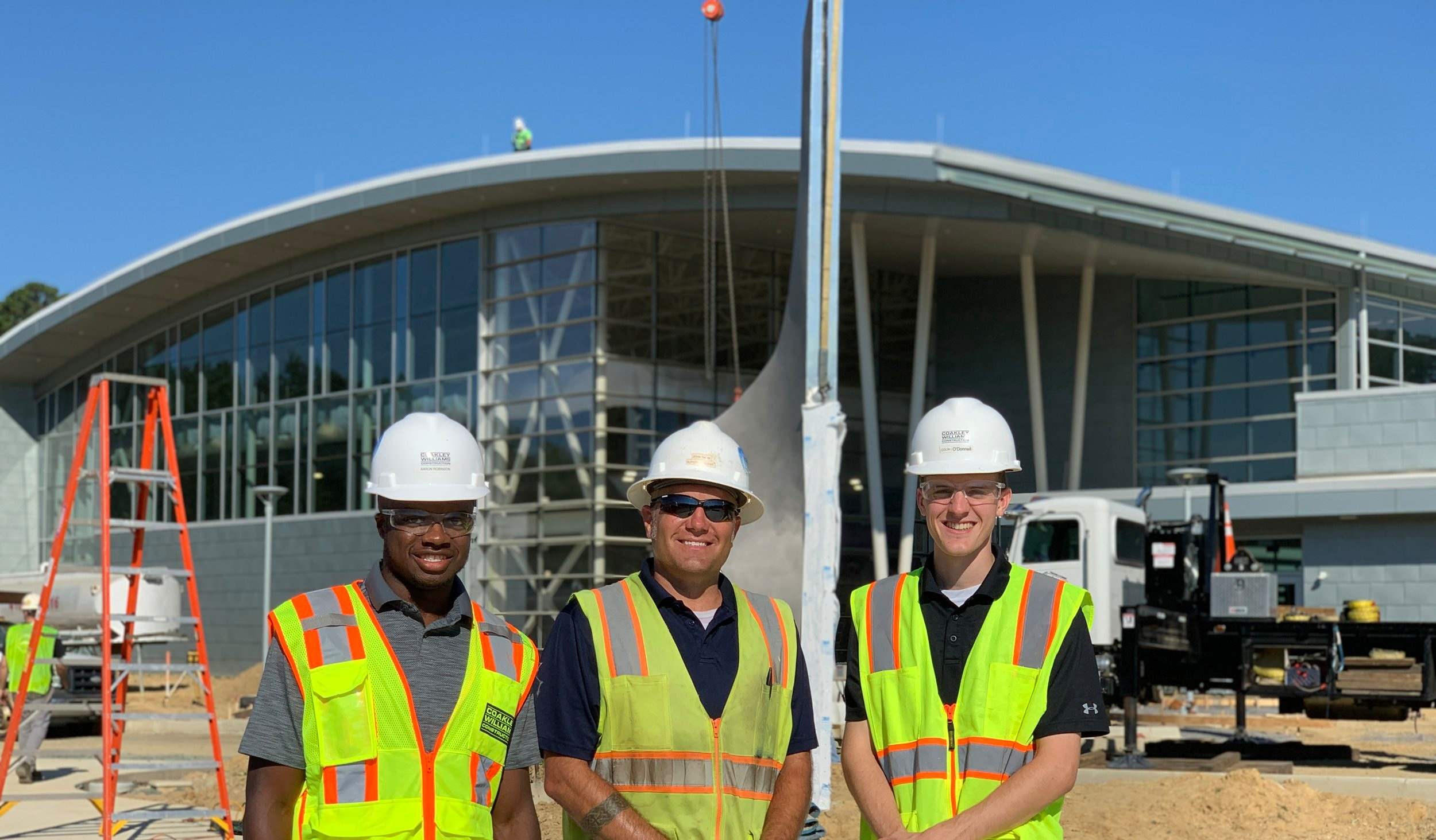 Aaron Robinson, Intern (left), John Raum, Superintendent (middle), and Colin O'Donnell, Project Engineer (right)