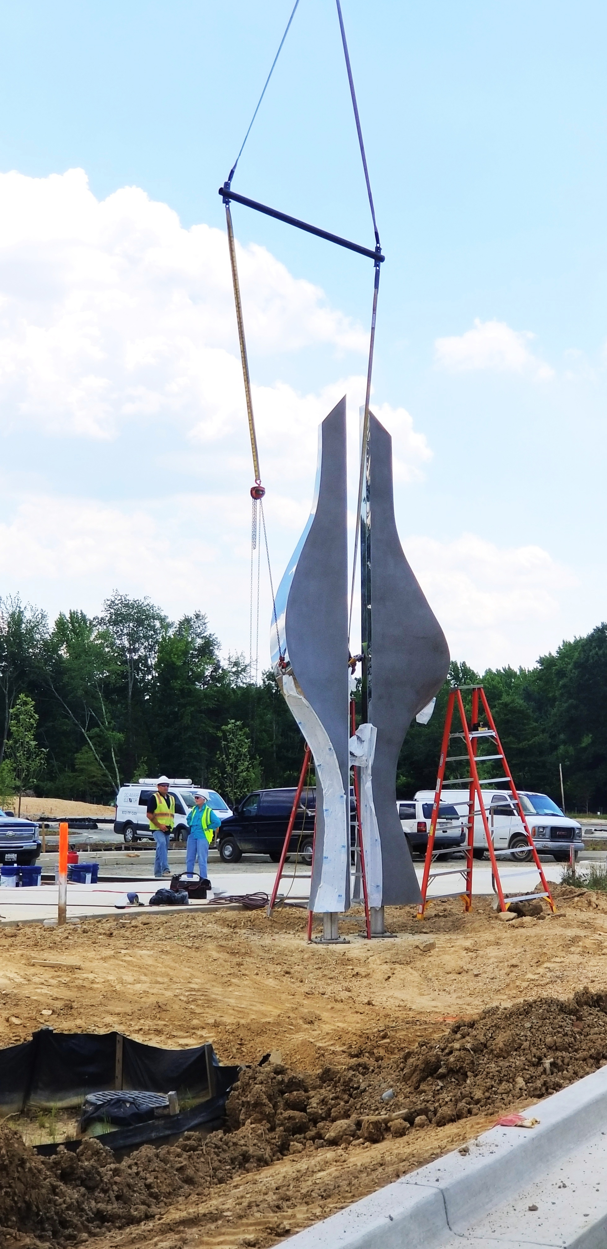 Designed by artist Judy Moore, the new 20-foot high  Guardians sculpture  will be the main attraction at the entrance of the building.