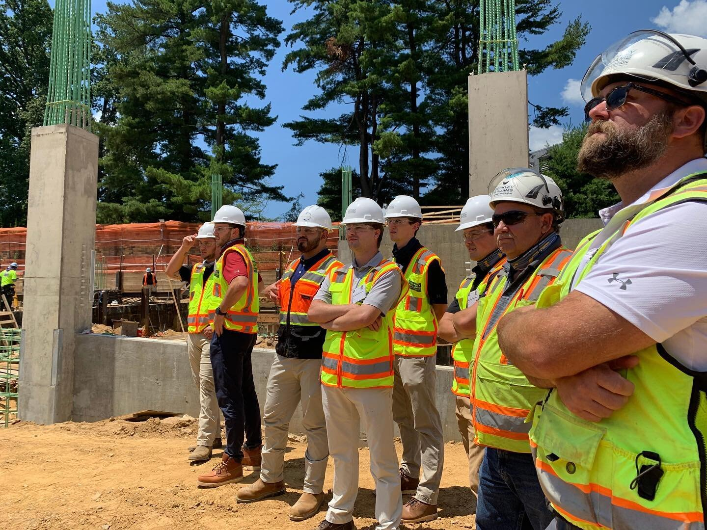 """CWC's #summerinterns recently visited the @NIHgov Campus for a site tour, where they got to see a """"day in the life"""" of a #Superintendent and learn about the key role they play in the #construction industry. #BuildSomething #constructioninterns"""