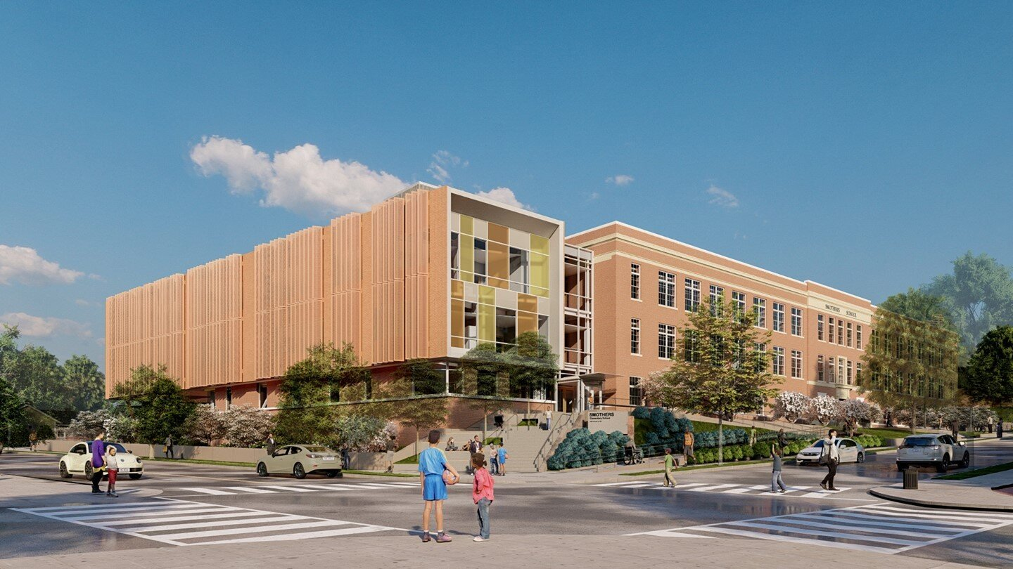 Coakley & Williams Construction, in a joint venture with @chiaramonteconstructionco, is completing a full modernization of the existing 3-story Smothers Elementary School. The project has an estimated completion date of July 2022. #DCconstruction #WashingtonDC #construction #buildingcommunity  ⠀ Want to learn more? Visit: https://buff.ly/2UPY2bI