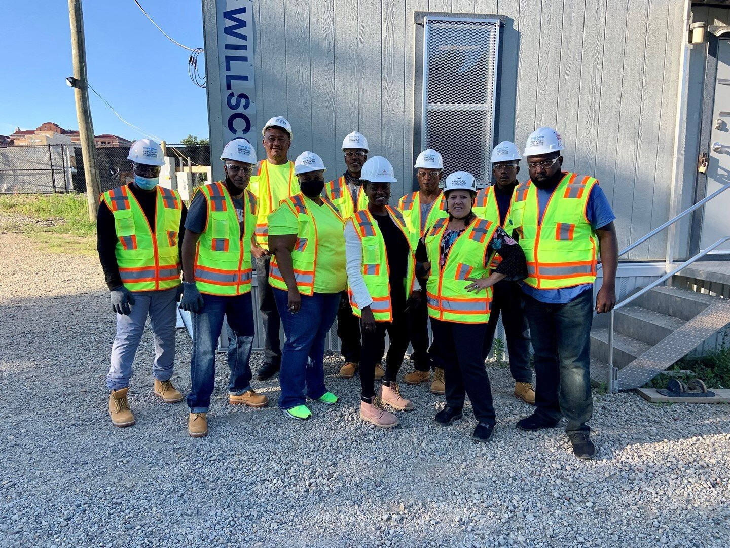 Seven new #constructionmen and #constructionwomen completed their training program and started working onsite at the 801 East Shelter project. #WashingtonDC #BuildSomething #Construction #DCconstruction