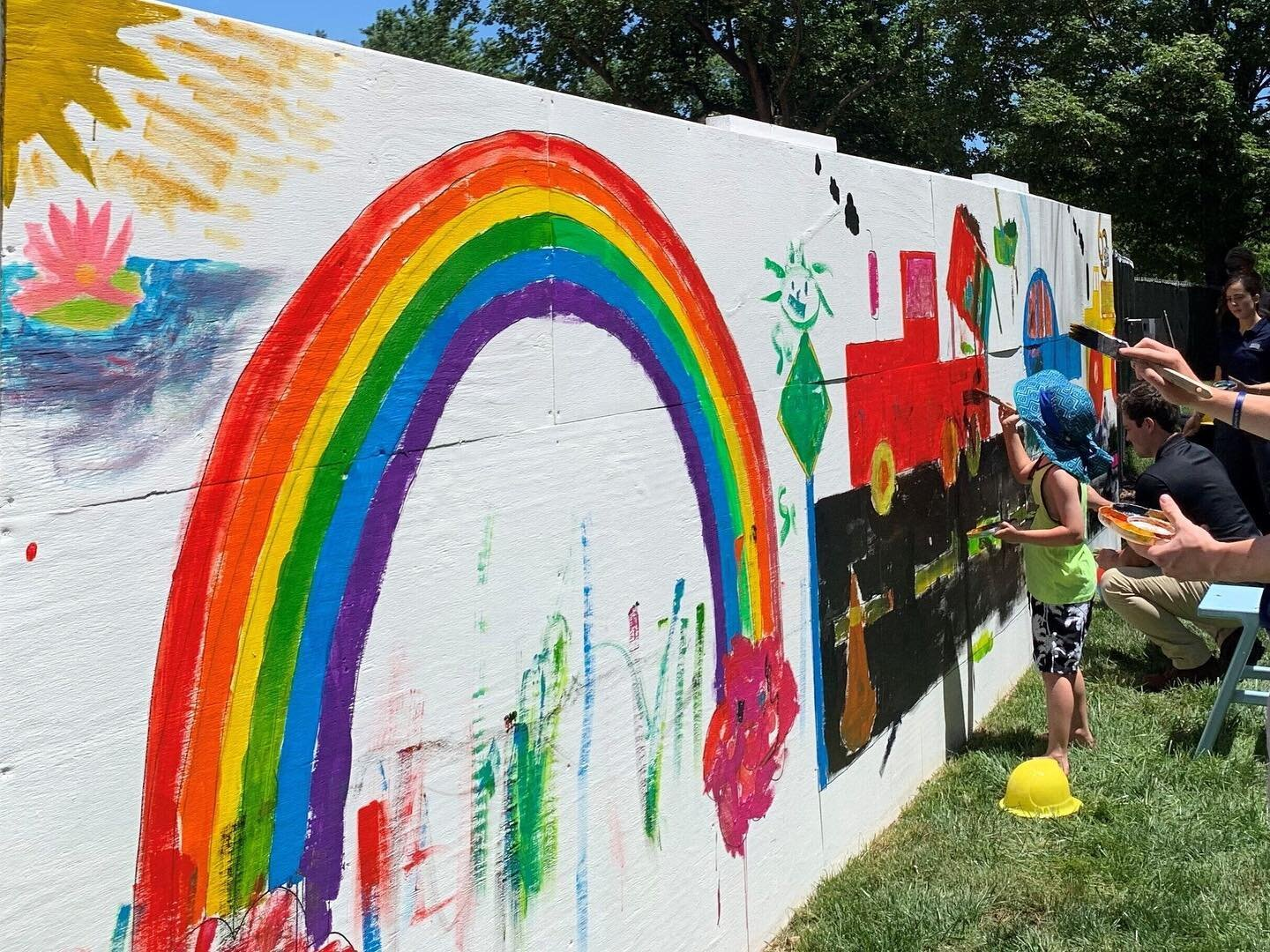 """Coakley & Williams Construction threw a Paint Party at our @paulistfathers' Residence & Mission House project in #WashingtonDC. Max Zarate, #ProjectManager, invited neighbors to paint a #mural on the temporary wall surrounding the #constructionproject.⠀ ⠀ CWC #summerintern, Connor Bath, said, """"The paint party was my first experience at a CWC community event and it made me realize how much of an impact a project has on the local community. I enjoyed interacting with the local kids and I could tell the event meant a lot to them and their view on #construction."""" #BuildingCommunity #Buildingfor60⠀ ⠀ Keep reading: https://buff.ly/3rkTpCG"""