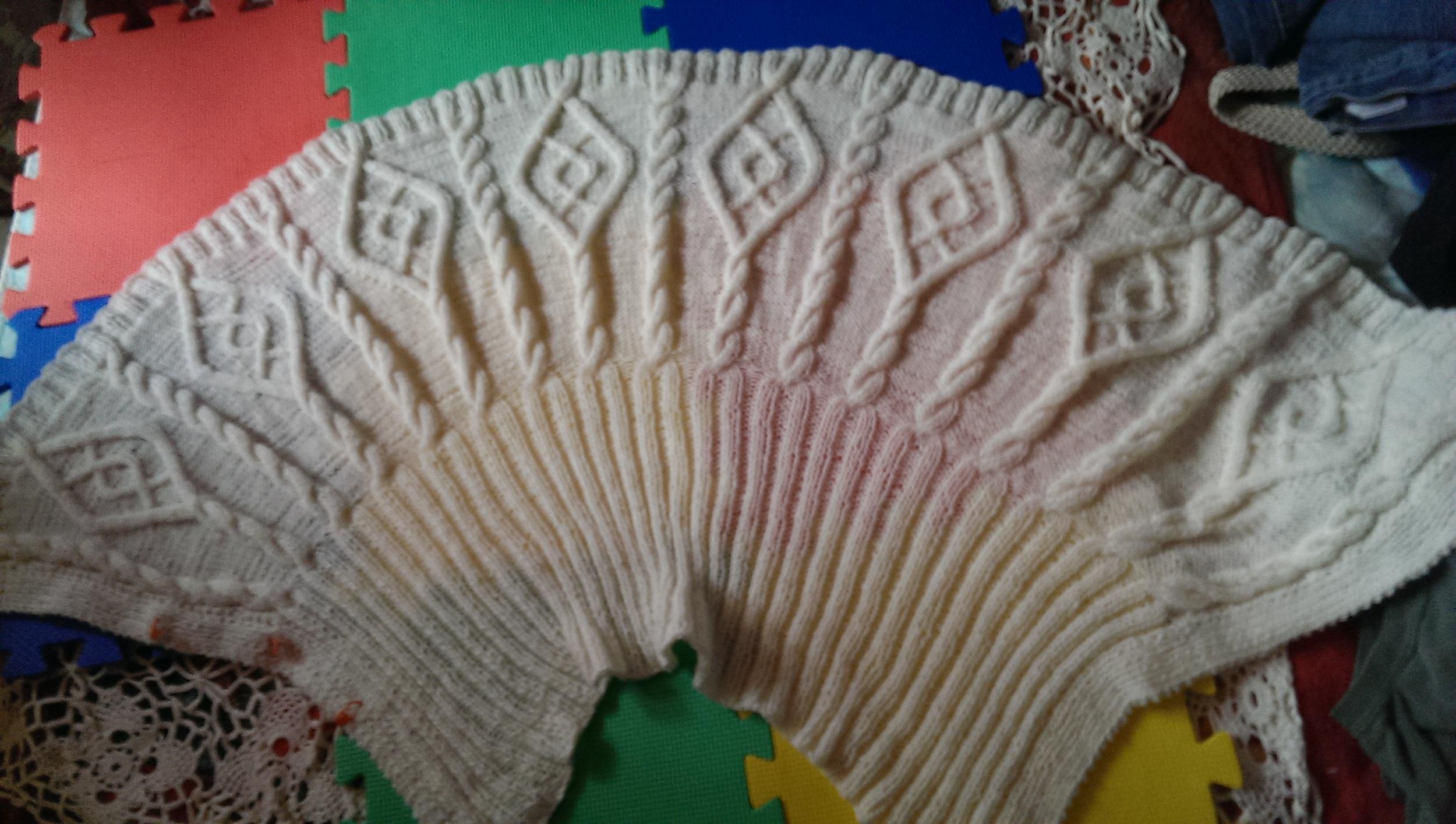 A lovely Irish shawl made with Australian yarn, in  Wandering Aran Fields