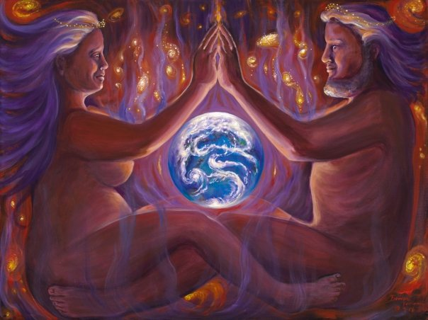 Earth Painting - Completion by Brenda Ferrimani