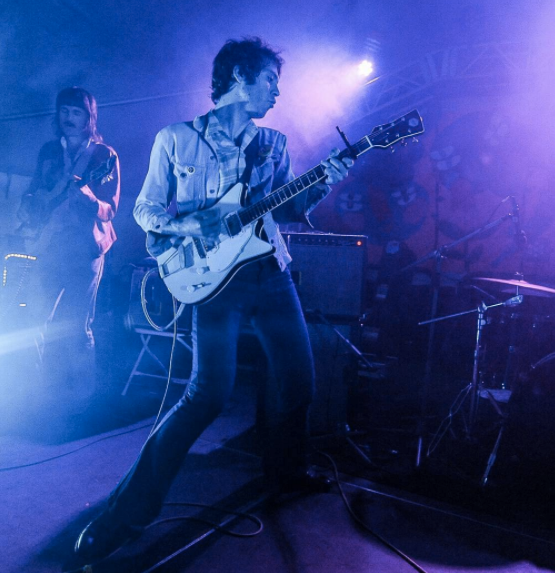 Photo by @exclaimdotca - Daniel Romano Live with his Frank Brothers Signature Model Custom Electric Guitar