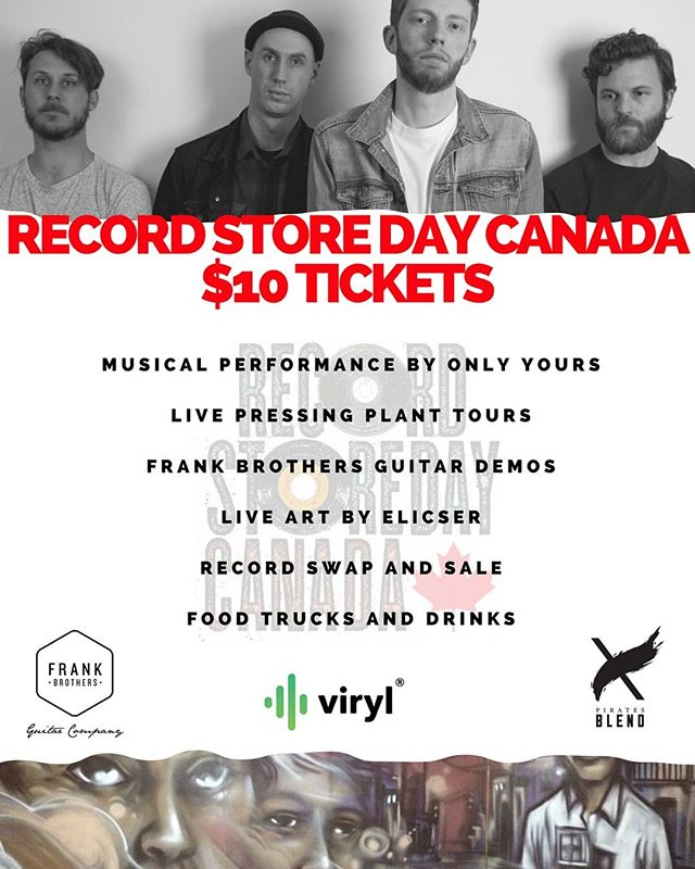 Record Store Day Frank Brothers Guitar Company Only Yours Viryl Tech