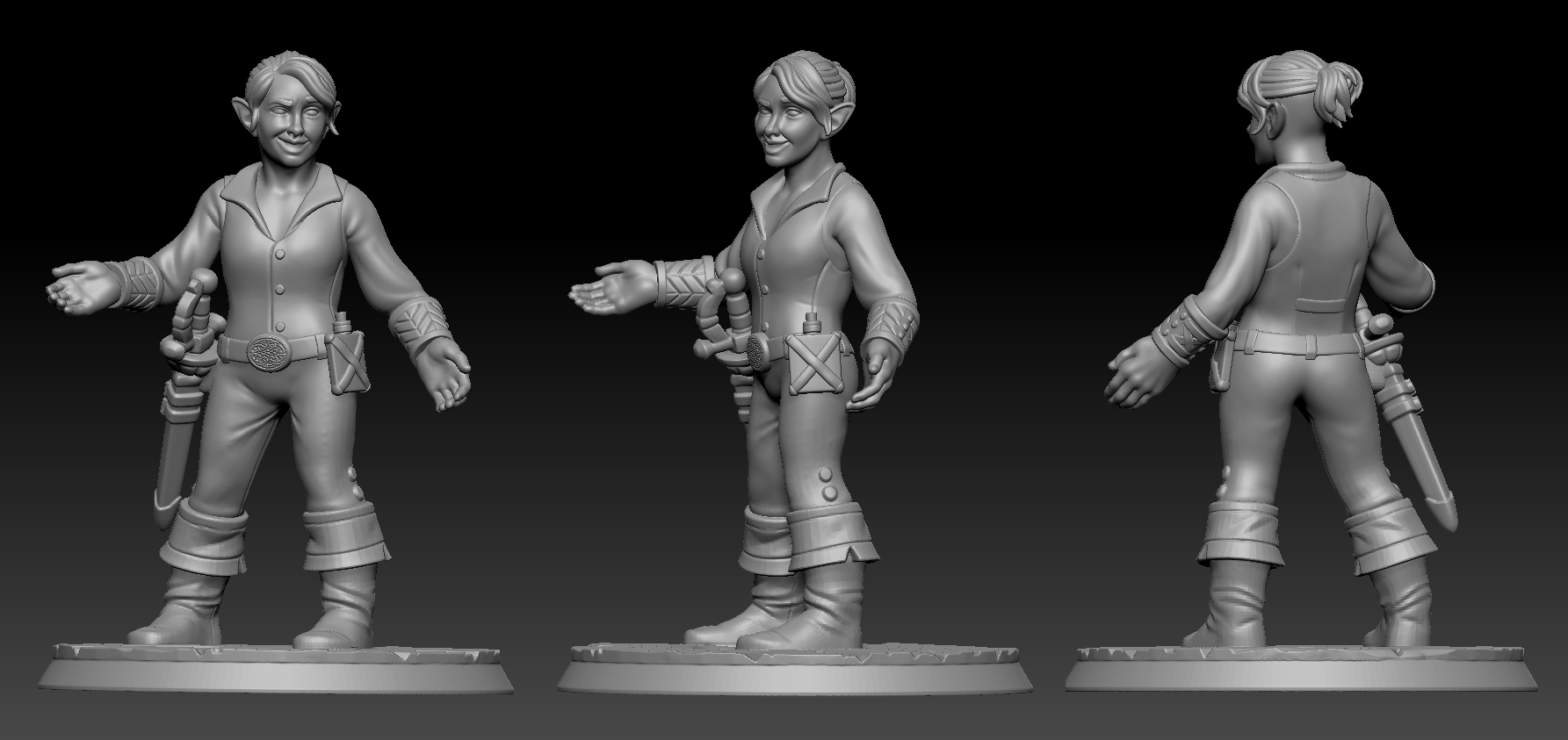 Custom asset using HeroForge.com STL file as a base.