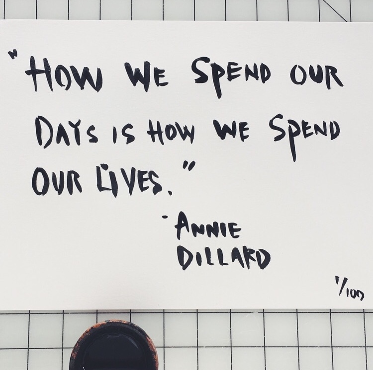 Annie Dillard  by INDIGO & SNOW #100daysofsumi #The100DayProject www.indigoandsnow.com