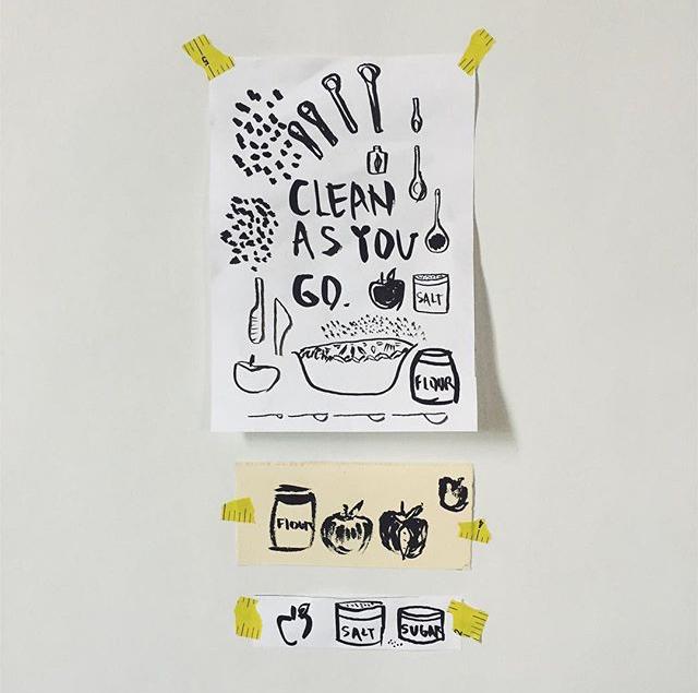 Clean As You Go / No. 2 by INDIGO & SNOW #100daysofsumi #The100DayProject www.indigoandsnow.com