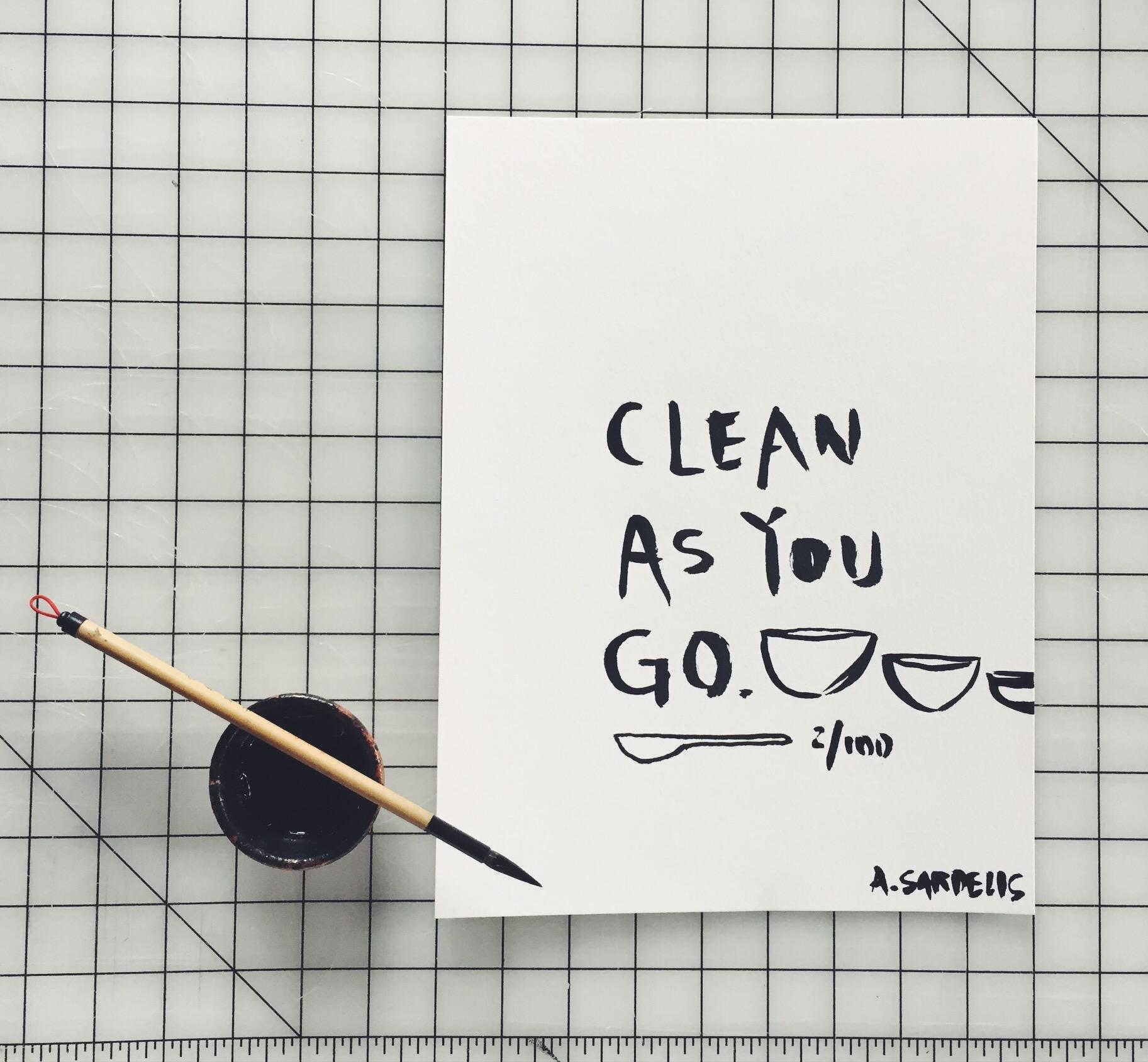 Clean As You Go by INDIGO & SNOW #100daysofsumi #The100DayProject www.indigoandsnow.com