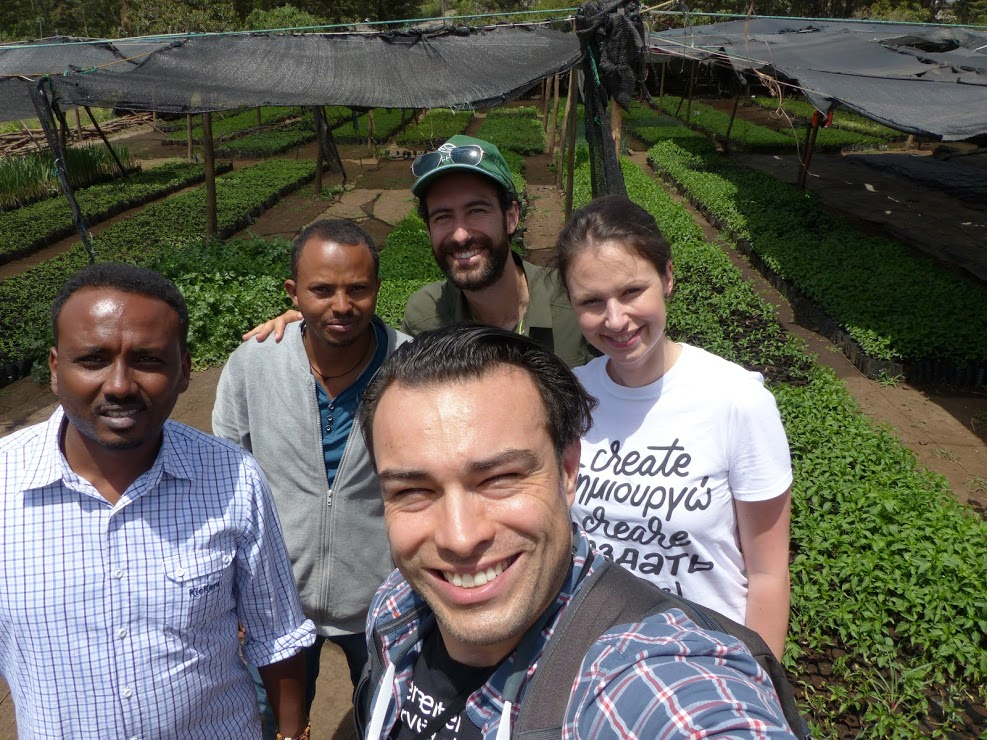 The  Elbe Fruit  team visit the GreenPath nursery in Butajira, Ethiopia. Photo courtesy of Elbe Fruit.