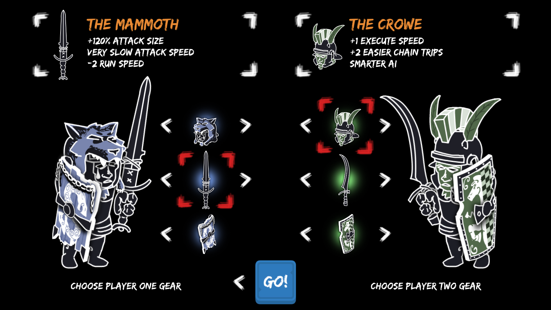 The gear menu