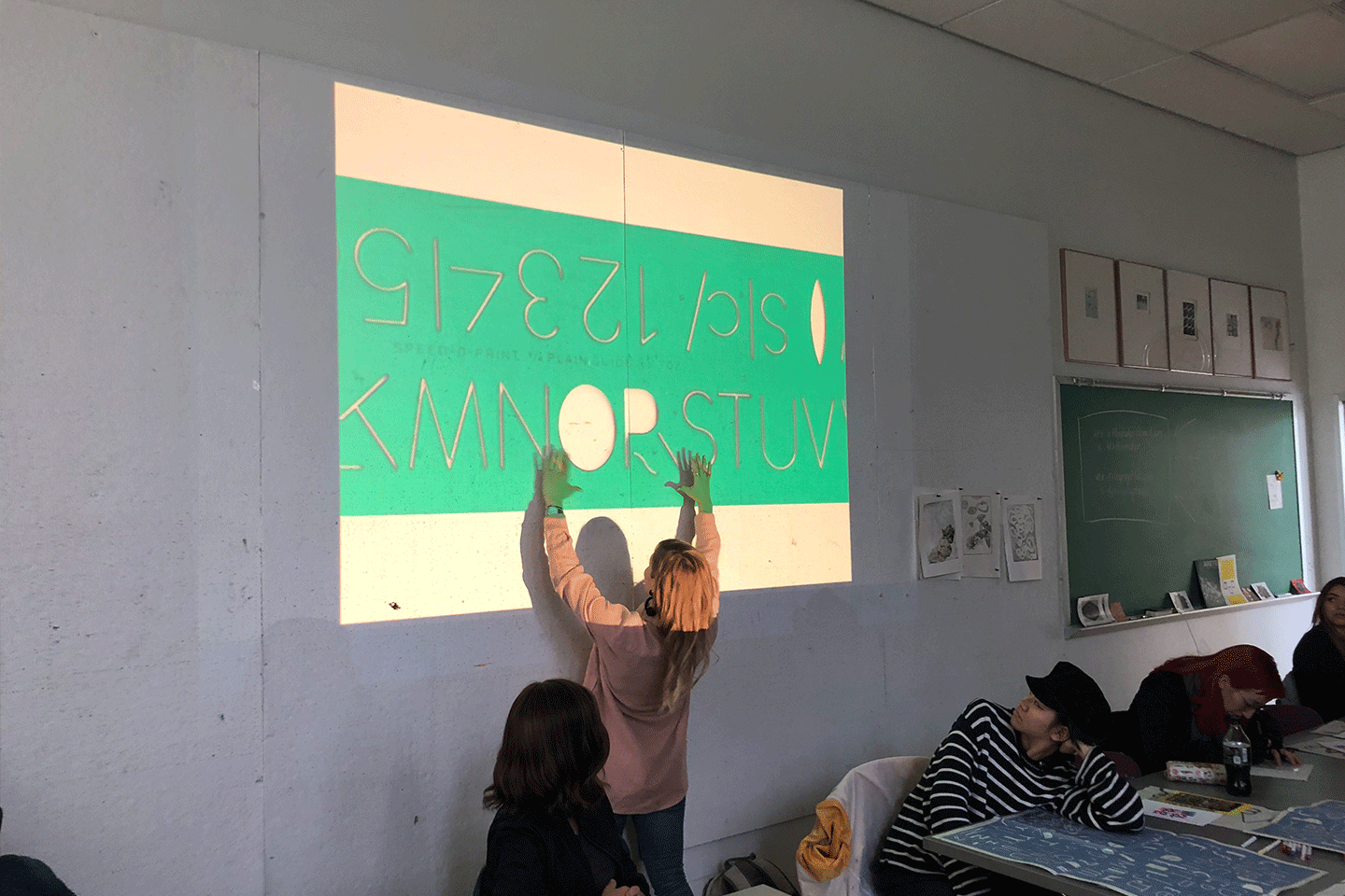 Kelcey Towell  workshop, sponsored by the Risograph Lab