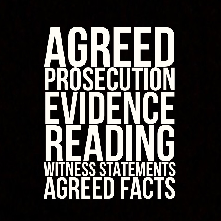 Agreed prosecution evidence