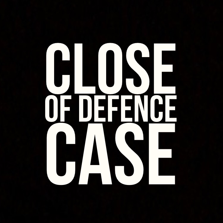 Close of defence case