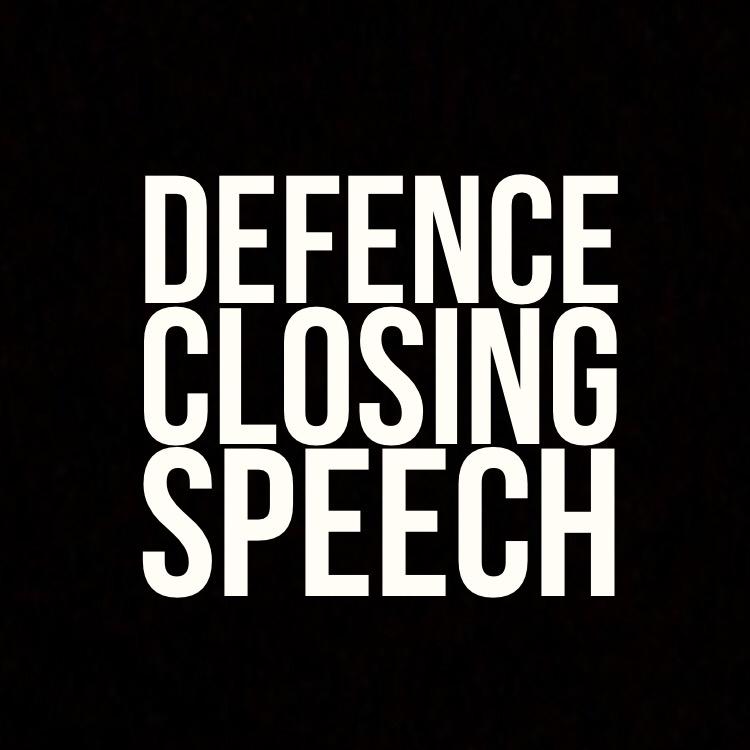 Defence closing speech
