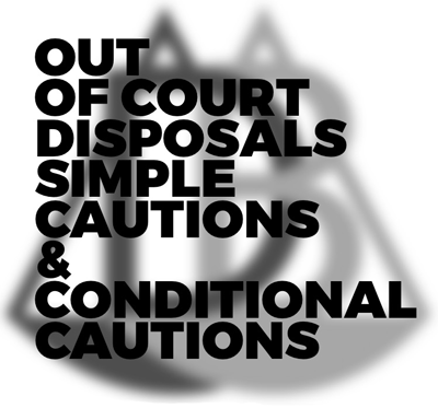 Out of court disposals