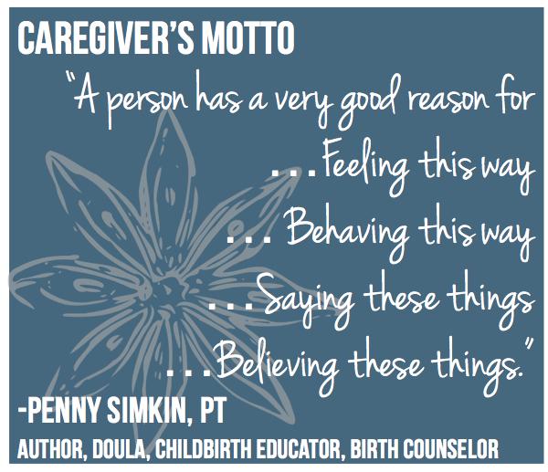 Penny Simkin caregiver quote