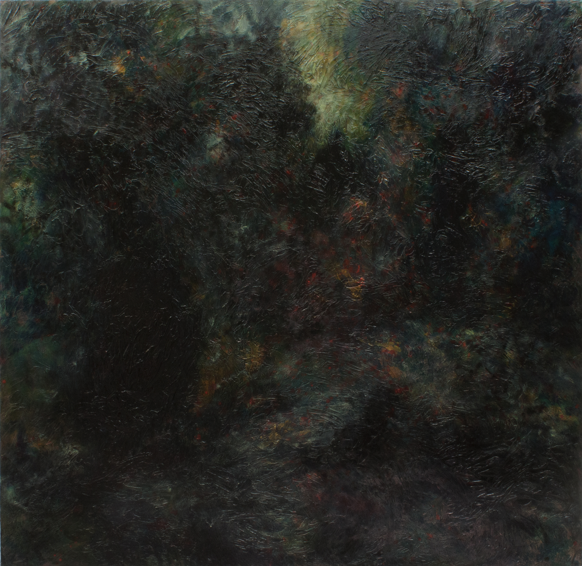 Glänta/Glade , Oil and Acrylic on canvas, 168×170 cm, 2017  High-res