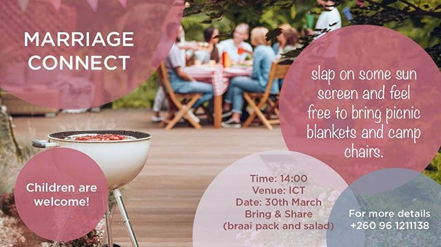 We are so excited to have our very first Ignite Marriage Connect launch this Saturday. This will be a time to connect, share stories, and learn from each other over food. Contact 0961 211 138 for more info.