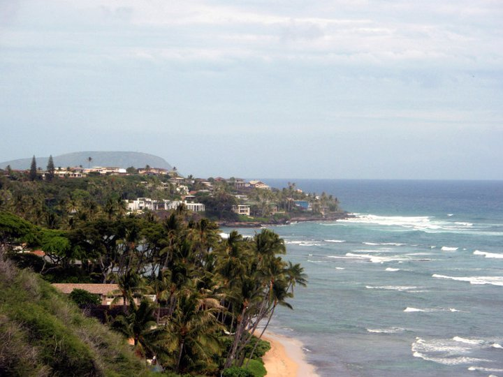 View from Diamond Head towards Molokai