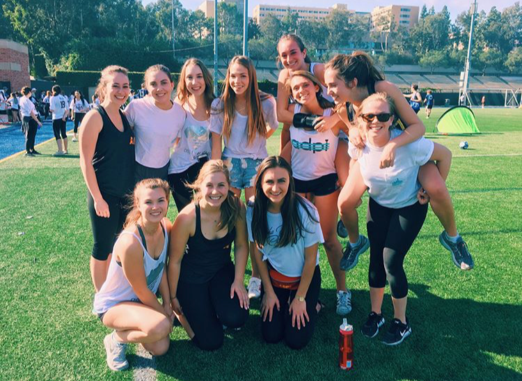 Showing support and Pi love at UCLA ADPi's Lion's Cup!