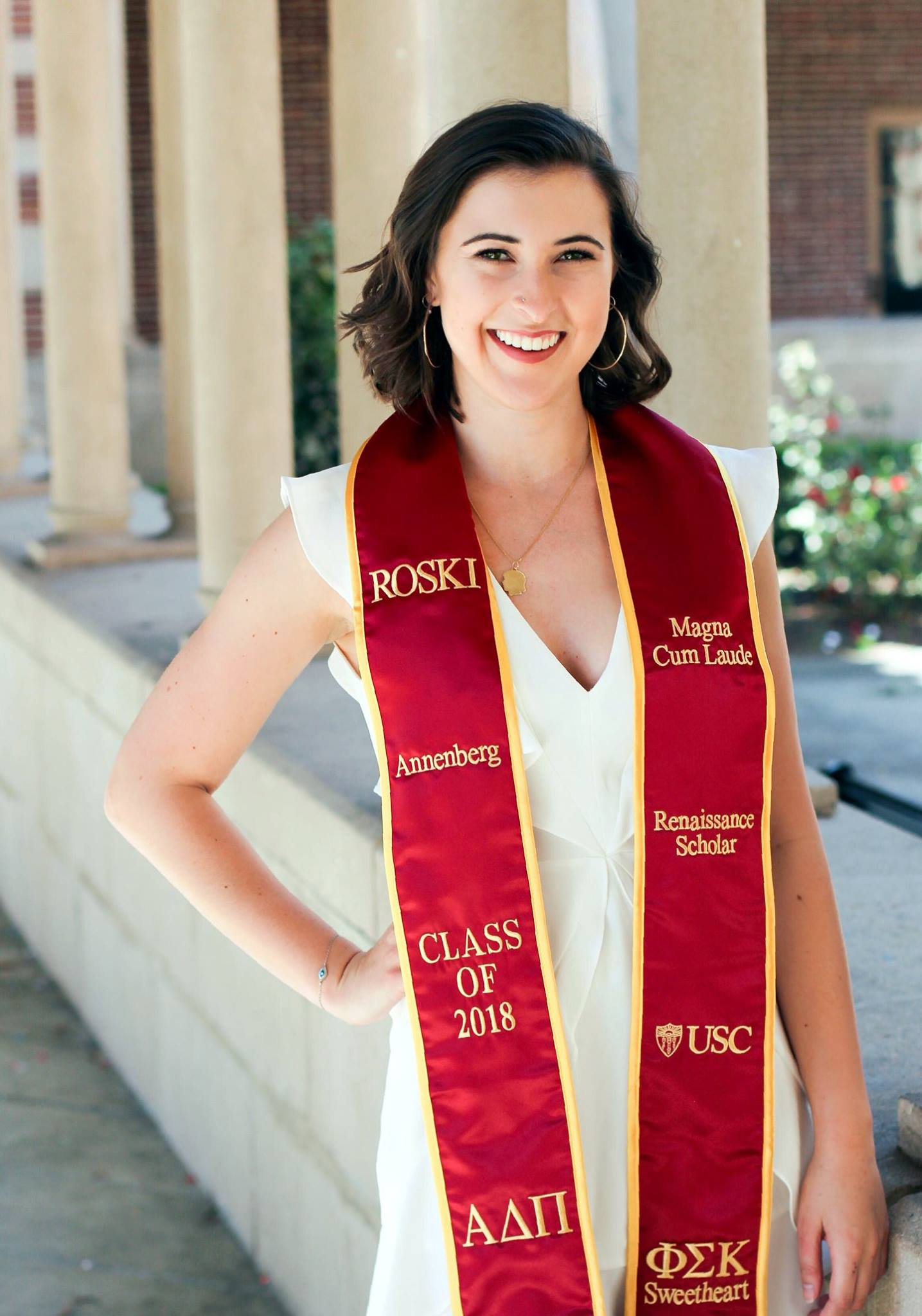 Chloe Moissis - Why Did You Join ADPi?I always felt so welcomed immediately at ADPi, and USC is such a big school, it was nice to find a place that felt like home.How Did ADPi Impact Your Time At USC?I was constantly inspired by what my sisters were doing, that I was pushed to work harder myself. I also learned about so many opportunities and tried so many things i never would have even heard about without my sisters. And of course it was great to have a group to goof around with when we weren't working too.What Are Your Post Grad Plans?I currently work at Sony Pictures as a graphic designer in the Digital Marketing department and plan to continuing designing in the entertainment industry.How Will You Stay Connected With ADPI Post Graduation?I plan to live with sisters and keep up through social media and try to see as many as I can after work! And at work, as there are some ADPis at Sony Pictures too!